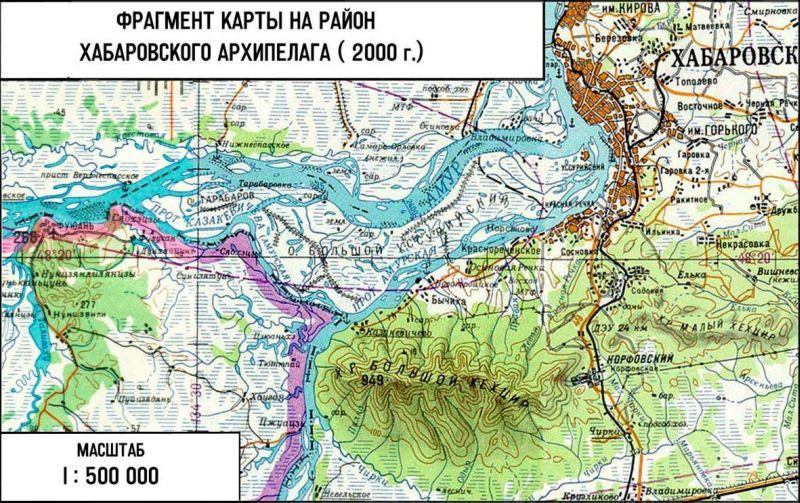 Карта № 1: Карта устья реки